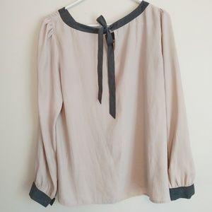 Ann Taylor Loft dress shirt, brown & black Large